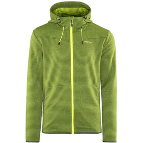 Meru Serres Fleece Hoody Men Green Striped